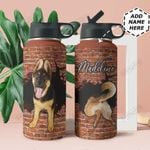 German Shepherd Personalized THA0211021 Stainless Steel Bottle With Straw Lid