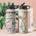 To Mom Nurse Personalized THA0211026 Stainless Steel Bottle With Straw Lid
