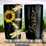 Personalized Faith Sunflower Dragonfly TAZ0211013