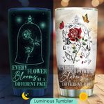 Rose Personalized KD2 HNM0211004 Luminous Stainless Steel Tumbler