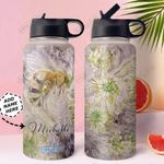 Bee Personalized MDA0311004 Stainless Steel Bottle With Straw Lid