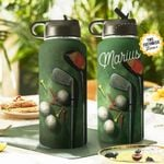 Golf Personalized THA0311020 Stainless Steel Bottle With Straw Lid