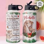To Lion Grandchild Personalized MDA0311007 Stainless Steel Bottle With Straw Lid