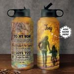 To Son Personalized MDA0311008 Stainless Steel Bottle With Straw Lid