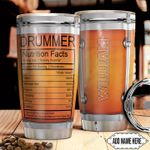 Drummer Fact Personalized TTR0311011 Stainless Steel Tumbler