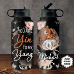 Owl Yin Yang Personalized DNS0311004 Stainless Steel Bottle with Straw Lid