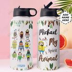 Sloth Spirit Animal Personalized DNS0311005 Stainless Steel Bottle with Straw Lid