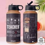 Teacher Label Personalized DNS0311006 Stainless Steel Bottle with Straw Lid