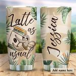 Sloth Latte Personalized KD2 HRX0311009 Stainless Steel Tumbler