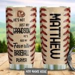 Personalized Baseball To My Grandson TAZ0311007 Stainless Steel Tumbler