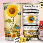 Butterfly Faith Personalized HTC0411001 Stainless Steel Tumbler