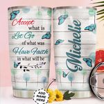 Butterfly Personalized HTC0411002 Stainless Steel Tumbler