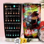 Piano Bday Personalized HTC0411006 Stainless Steel Tumbler