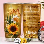 To My Daughter Personalized HTQ0411010 Stainless Steel Tumbler