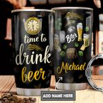 Beer Time Personalized DNS0411008 Stainless Steel Tumbler