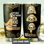 Sloth Meditation Personalized DNS0411010 Stainless Steel Tumbler
