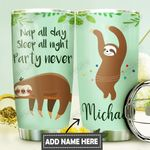 Sloth Nap Personalized DNS0411011 Stainless Steel Tumbler