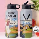 Golf Girl Personalized MDA0411002 Stainless Steel Bottle With Straw Lid