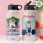 Gym Unicorn Personalized MDA0411004 Stainless Steel Bottle With Straw Lid