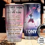To Basketball Son Personalized MDA0411013 Stainless Steel Tumbler