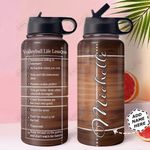 Volleyball Lesson Personalized MDA0411007 Stainless Steel Bottle With Straw Lid