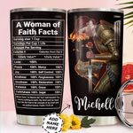 Woman Faith Facts Personalized MDA0411016 Stainless Steel Tumbler
