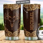 Personalized Hunting Skull Woody Style PYZ0411017 Stainless Steel Tumbler
