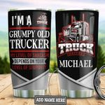Personalized Grumpy Old Trucker TAZ0411016 Stainless Steel Tumbler