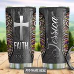 Personalized Faith Bandana Pattern TAZ0411015 Stainless Steel Tumbler