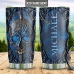 Personalized Blue Skull Woody Style HLZ0411013 Stainless Steel Tumbler