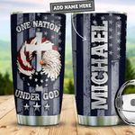 Personalized American One Nation Under God PYZ0411012 Stainless Steel Tumbler