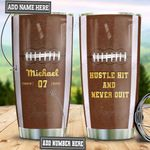 Personalized American Football Pattern TAZ0411010 Stainless Steel Tumbler