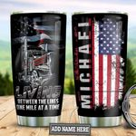Personalized American Flag Trucker TAZ0411007 Stainless Steel Tumbler
