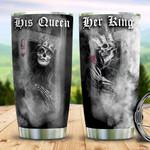 Skull Couple King Queen TAZ0411006 Stainless Steel Tumbler