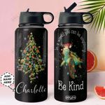 Turtle Christmas Personalized NNR0411013 Stainless Steel Bottle With Straw Lid