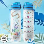 Elephant Christmas Personalized TTR0411005 Water Tracker Bottle