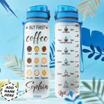 Coffee Personalized TTR0411003 Water Tracker Bottle