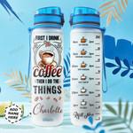 Coffee Personalized NNR0411002 Water Tracker Bottle