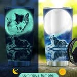 To My Wolf Wife KD2 KHM0411005 Luminous Stainless Steel Tumbler