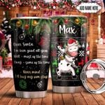 Christmas Letter Cow Dabbing Personalized THS0511007 Stainless Steel Tumbler