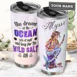 Mermaid Dreams Of The Ocean Personalized THS0511010 Stainless Steel Tumbler