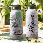Mermaid Spirit Personalized THS0511005 Stainless Steel Bottle With Straw Lid