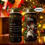 Christmas Letter Cow Dabbing Personalized THS0511001 Stainless Steel Bottle With Straw Lid