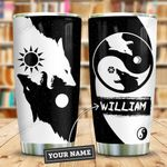 Yinyang Wolf Personalized KD2 ZZL0511013 Stainless Steel Tumbler