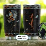 Retro Skull Flower Personalized KD2 HAL0511011 Stainless Steel Tumbler