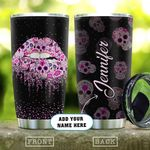 Pink Skull Lips Personalized KD2 HAL0511010 Stainless Steel Tumbler