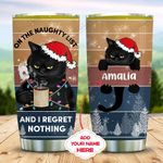 Black Cat Christmas Personalized KD2 MAL0511002 Stainless Steel Tumbler
