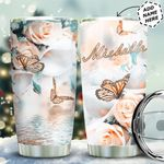 Butterfly Personalized HTQ0511003 Stainless Steel Tumbler