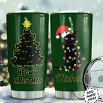 Cat Black Christmas Personalized HTQ0511002 Stainless Steel Tumbler