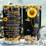 Sunflower Butterfly Personalized HTQ0511016 Stainless Steel Tumbler